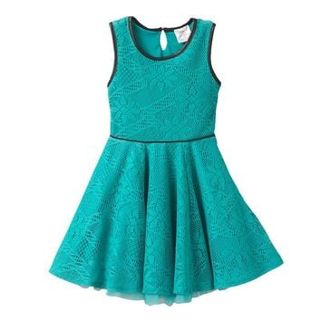 Youngland Floral Crochet Dress - Girls
