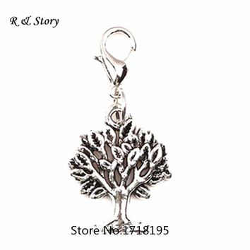 Antique silver Dangle Charms Family Tree Charms & Pendant fit Bracelet Necklace LFD_077