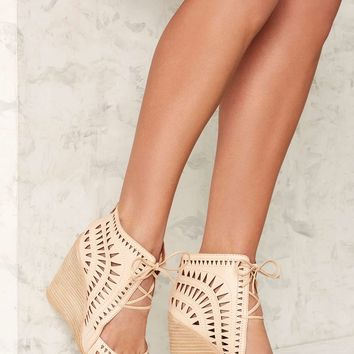 Jeffrey Campbell Rodillo Leather Wedge