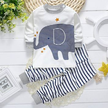 winter baby boys clothes cute cartoon print girls clothes long sleeve infant toddler girl clothes set warm children's clothing