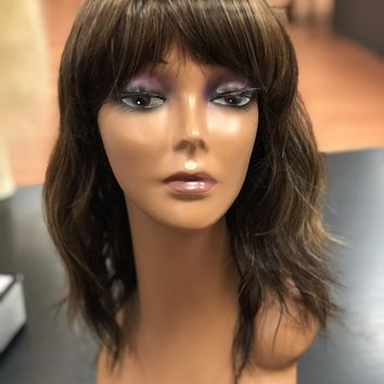 Hairdo Wave Cut Wig .Blunt Bangs Soft Textured Layers Beach .Heat Friendly Synthetic Mulit-Shad