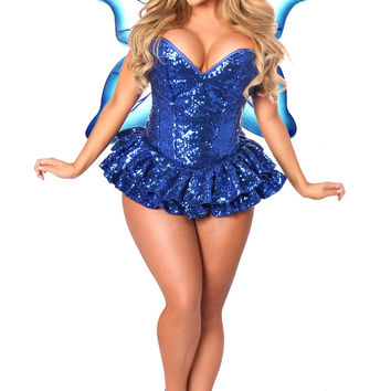 Daisy Corsets - Top Drawer Premium Sequin Fairy Corset Dress Costume