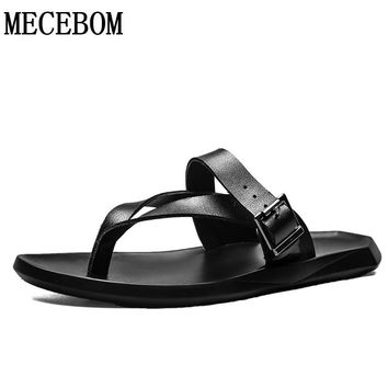 Men slippers 2017 new summer men flip flops black sliders fashion quality men shoes size 38-43 1731m