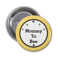 """Mommy To Bee"" Cute Bumble Bees Honeycomb Pattern"