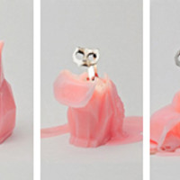 """Pyropet"" Cat Candle (Pink)"