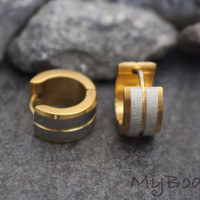 Mens Gold Hoop Earring