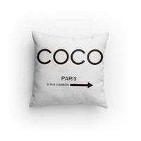 Fashion Coco Decorative Pillow