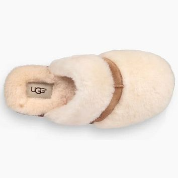 UGG Women Wool Fur Slippers