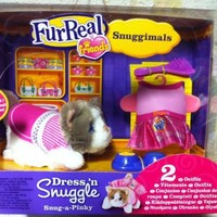 Fur Real Friends Snuggimals Dress 'N Snuggle with Lilac Paint Kitten Snug-a-Pinky