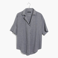 Courier Button-Back Shirt in Gingham Check : shopmadewell button-up & popover shirts | Madewell