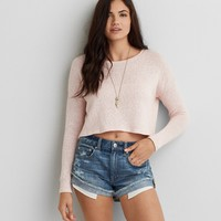 AEO FEATHER LIGHT CROPPED SWEATER