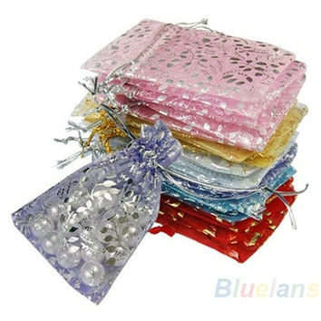 25x Organza Jewelry Wedding Gift Pouch Bags 7x9cm 3X4 Inch Mix Color [7981647047]