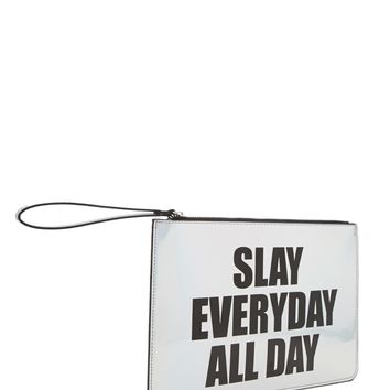 Holographic Slay Graphic Clutch