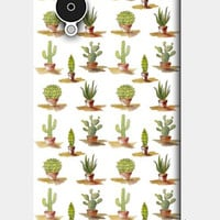 Cute Watercolor Green Cactus Pattern Nexus 5 Cases | Artist : Seema Hooda