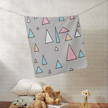 Funky Triangles Pyramids Geometry Baby Blanket