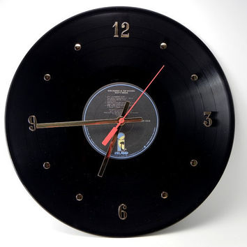 "BOB MARLEY Vinyl Record Wall Clock ""Natty Dread"" by recordsandstuff"