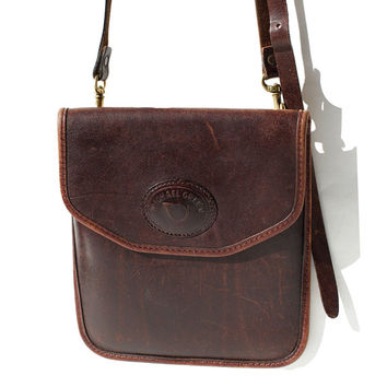 Chocolate Brown Leather Cross Body Bag