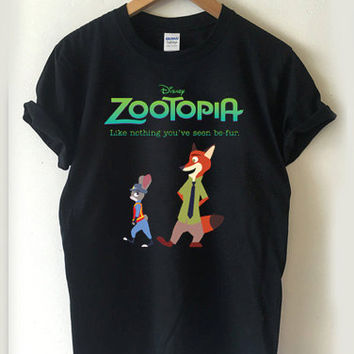 zootopia T-shirt Men, Women, Youth and Toddler