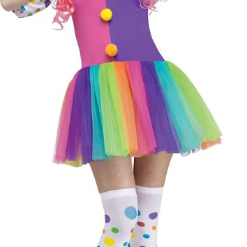 Clownin Around Adlt Med-large Halloween freak show circus carnival costume