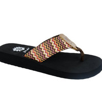Yellow Box Paige Brown Flip Flops