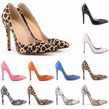 Trendy Point Toe Stylish Stiletto High Heels