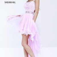 Pink High Low Party Dress by Sherri Hill