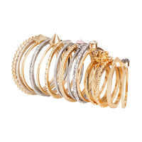 H&M - 16-pack Rings - Gold - Ladies