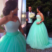 A line prom dress, tulle prom dresses, prom dresses 2016, dresses for prom, sexy prom dress