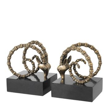 Brass Ibex Bookends | Eichholtz