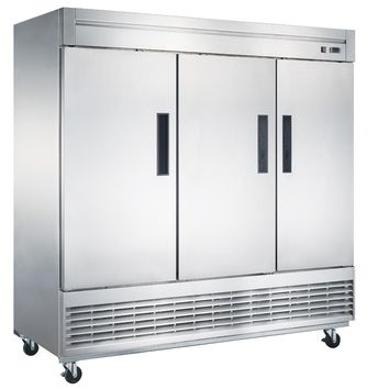 Commercial Kitchen 3 Door Reach-In Freezer 83""