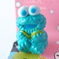 Blue Cookies Monster Earphone Jack Accessory Dust Plug Stopper Ear Jack 3.5mm for iPhone 4G 4S 5 / iPad / ipod touch/ Samsung S3 note II