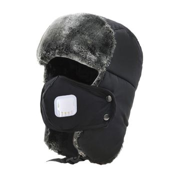 Thickening Mask Skiing Caps Winter Warmer Earmuffs Outdoor Sport Men Hiking Snowboard Snowmobile Windproof Hat