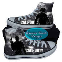 Custom Converse, Call of Duty, Game, Fanart shoes, Custom chucks, painted shoes, personalized converse hi tops
