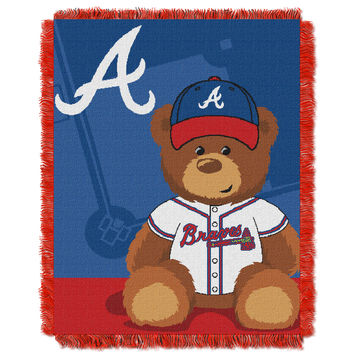 Braves  Baby 36x46 Triple Woven Jacquard Throw - Field Bear Series