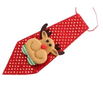 woweile # 4005   Christmas Party Adjustable Children Toy Grooming Bow Tie Necktie Clothes