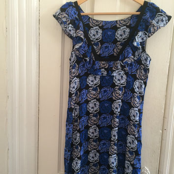 Rose Printed Silk Charmeuse Frock (Plenty Frock by Tracy Reese)