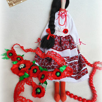 Free shipping worldwide Tilda Ukrainian Natalochka Ukrainian doll Gift for her Handmade doll Folk style Doll from Ukraine Tilda doll