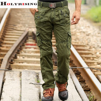 2016 men's cargo camouflage pants fashion men 4 different color high quality soft cool man pants