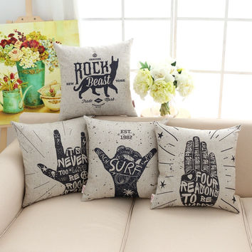 45*45 Cm Home Decorative Pillow Black Humor Digital Printing Throw Cushion For Chair Seat Sofa/bed/hotel/car