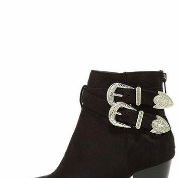 Kick it Up Black Suede Ankle Booties