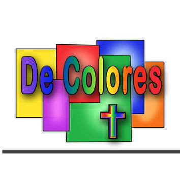 De Colores Stained Glass 5x7 Download Image