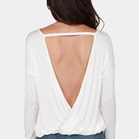 Cue For the Show Backless Ivory Top