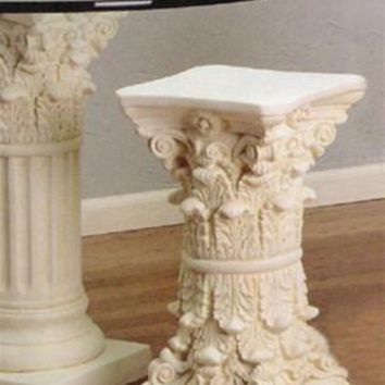 Double Corinthian Side Table Base 23H