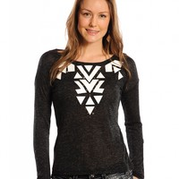 Rock & Roll Cowgirl® Ladies' Long Sleeve Knit Tee