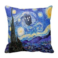 A Starry Night Time Travel Van Gogh Pillows
