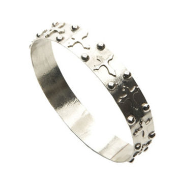 And West Womens Western Silver Cross With Beads Bangle Bracelet