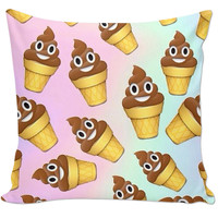 POOP ICE CREAM EMOJI PILLOW