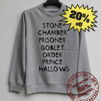 Stone Chamber Prisoner Shirt Harry Potter Sweatshirt Sweater Shirt – Size XS S M L XL