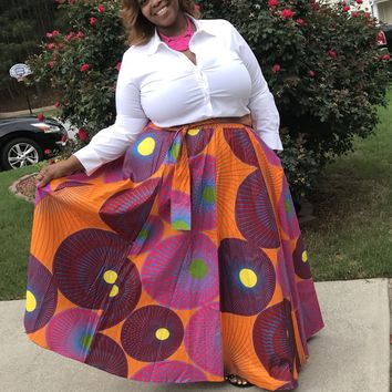 """Paisley"" African Skirt"