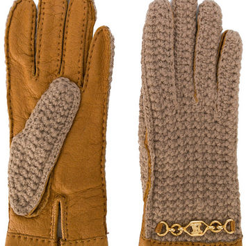Céline Vintage Panelled Gloves - Farfetch